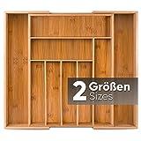 Loco Bird Bandeja de Cubiertos para Cajon de bambú - hasta 9 compartimentos - Bandeja para Cubiertos útil para la cocina - Inserto de Cajón Cubertero de la Cocina - Bandeja de cubiertos de madera