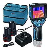 Bosch Professional Sistema 12V Cámara térmica GTC 400 C (2 baterías 12V + cargador, bolsa, con conectividad, medición -10 °C hasta +400 °C, resolución: 160 x 120px) - Edición Amazon
