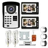 𝐑𝐞𝐠𝐚𝐥𝐨 𝐝𝐞 𝐍𝐚𝒗𝐢𝐝𝐚𝐝 Cosiki Kit de Timbre de Video con intercomunicador, 7 Pulgadas con Cable, Huella Dactilar, contraseña, videoportero, Kit de Timbre con intercomunicador de teléfono sin