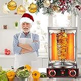 KKTECT Grill Machine Propane Doner Kebab, Gyro Grill, Parrilla Vertical con 2 Quemadores, para Cocina Doméstica Comercial