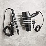 Direct Online - Soporte para secador de pelo, incluye soporte para alisador y organizador de cables, color blanco