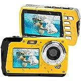 Camara Acuatica Camara de Fotos Acuatica 2.7K Cámara Full HD 48.0 MP con Pantalla Dual para Selfie Camaras Acuatica Submergible Resistente