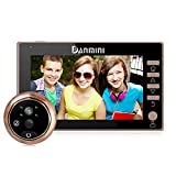 YLXD Videoportero Timbre de Video,Visor Digital de Puertas, Mirilla, WiFi Smart Home,Gran Angular de 170 Grados, Alarma antirrobo,Pantalla a Color de 4.5 Pulgadas HD,monitoreo del hogar