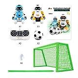 Blue-Yan Juguete de Control Remoto Fútbol Robot para niños Robot programable Inteligente con Infrarrojos Controlador de Juguetes, Bailar, Cantar, Juguete Interactivo Inteligente de Carga USB