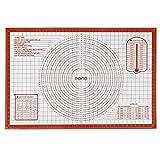 Eono by Amazon Extra Grande Tapete de Silicona para pastelería 91.4x61 cm, Tapete para Hornear y Amasar Antiadherente, Esteras de repostería Reutilizable, para Pizza Pasta Torta Pan (Rojo)