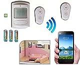 Alarma con batería y sistema telefónico, GSM/mando a distancia/sirena integrada