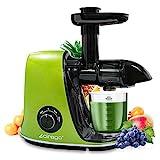 Licuadora Prensado en Frio, CIRAGO Licuadora Frutas Verduras,Extractor de zumos con Función inversa,Motor Silencioso,Limpieza Fácil con Cepillo, Alto en Nutrientes para Zumo de Frutas y Verduras