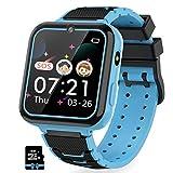 Jaybest Reloj Inteligente para Niños, Smartwatch niños con Hacer Llamada, SOS, Cámara, Música, Juegos y Despertador, Regalo para Niño Niña de 3-12 años, Azul