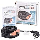 Cable calefactor de protección contra heladas con termostato de botón VOSS, sin hielo, 230 V, cable calefactor para proteger tuberías de agua y bebidas de pastos