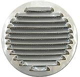Tapa de Rejilla de Ventilación de Aluminio Circular Ø 150 mm, Rejilla de Ventilación de Campana Extractora, Rejilla de Ventilación de Aluminio Circular con Malla.