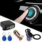 SODIAL Smart RFID Sistema de alarma para automovil Push Engine Start Boton de detencion Lock Ignition Inmobilizer con control remoto sin llave Go Entry System 12V
