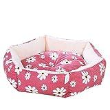 CWYSJ Camas for Perros, Extra Suave Lavable cómodo sofá Cama for Mascotas, for el Gato y Perro Dormir Invierno (Color : Pink, Size : M45*12cm)