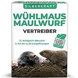 Silberkraft - Ahuyentador de topos y roedores (200 g, granulado, para ahuyentar y combatir topos y campañoles)