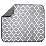 GoodFaith Posavasos de microfibra para secado de platos, alfombrilla de fibra de esponja de tela escocesa, tabla de drenaje para cocina, salón de baño