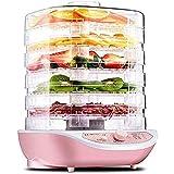 DXQDXQ Secadora Deshidratadores de Alimentos 5 Pisos Deshidratador de Frutas y Verduras 35-70°C Temperatura Regulable 250W Desecadora de Fruta para Meriendas Saludables Ajustable