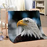 DHYYQX Manta de Franela de Microfibra 3D Ojo de Águila Impresión Digital, Mantas para Niños y Adultos 135x150cm para Sofá, Cama, Dormitorio
