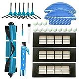 BSDY YQWRFEWYT Kit Accesorios de Recambio para Cecotec Conga Excellence 3090 Robot Aspiradora, Material Premium, Pack Familiar de 1 Cepillo Principal+3 Filtros + 6 Cepillos Laterales + 2 Mopas