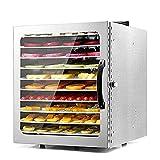 DXQDXQ Secadora 1000W Deshidratadores de Alimentos Professional 10 Pisos Deshidratador de Frutas y Verduras 30-90°C Temperatura Regulable Desecadora de Fruta Ajustable