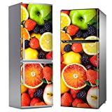 MEGADECOR Adhesivo Decorativa Nevera DISEÑO Fondo Todo Frutas (185cm x 60cm)