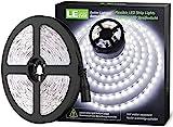 LE Tira LED, Cadena de Luces, 5m 300 LED SMD 2835, Blanco Frío No Impermeable 6000K para Techo, Escaparate, Muebles, etc. no incluido fuente de alimentación