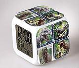 HHIAK666 Reloj Despertador De Dinosaurios, Cambio De Color 7 Reloj Despertador De Color Quad, Led Reloj De Alarma De Regalo Creativo 8Cm 17