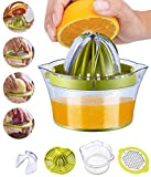 Snowpea Exprimidor Manual Exprimidor de limón Apto para lavavajillas, Exprimidor Multifuncional de Naranja y limón, Exprimidor Manual de Frutas con Recipiente medidor 400 ml