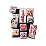 Nostalgic-Art - Juego de 9 imanes para Nevera Retro de Kellogg's – Happy Hostess – Regalo para los Amantes de la nostálgica – Juego de imanes para Pizarra magnética de diseño Vintage