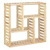 Navaris Estantería de Pared de bambú - Estante de almacenaje para baño y Ducha - Armario pequeño con baldas - con 5 Compartimentos para Accesorios