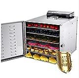MICHEN 6 Bandejas De Acero Inoxidable Deshidratador de Alimentos Fruta Vegetal Deshidratación Secador de Aire Carnes Máquina de Secado de Hierbas 110 V 220 V
