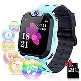 YENISEY Relojes para Niños - Música Smartwatch para Niños Niña Game Watch (Tarjeta SD de 1GB incluida Pantalla táctil Relojes Inteligentes con Llamada Juego Cámara Música (Azul)