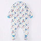 Saco de Dormir cálido y Grueso,Saco de Dormir para piernas de bebé, otoño e Invierno de algodón Grueso para niños antipatadas, Robot Azul_L,Saco de Dormir para Bebé Confortable