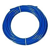Vyair 10 metros Tubo de filtro de suministro de agua de medidor para adaptarse a la nevera doble de estilo americano y europeo (azul) (Tubo de 1/4')