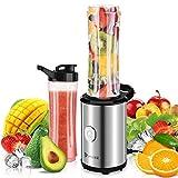 IMURZ Batidora de Vaso, Licuadora Portatil,Licuadoras Batidos para Smoothies, Frutas y Verduras,Hielo, con 2 * 600ml Sin BPA Botella Tritan,350W