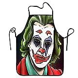 N\A Delantal Personalizado Joker Joaquin Phoenix Ilustraciones Cuello para cocinar Hornear Jardinería