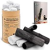 Vibratis Binchotan Orgánico 6x - Carbón Activo Binchotan de Bambú para Purificación de Agua de Grifo en Jarra