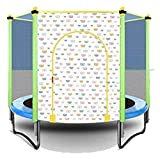 HLZY Broncler Trampoline con recinto - Los niños del Interior del trampolín Infantil Interior y Exterior Entretenimiento Trampolín, la Red de Seguridad, Capacidad de Carga de 200 kg / 150cm