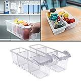 Refrigerador Cajón Organizador (2Pack) - Refrigerator Almacenamiento (40cmx12cmx12cm) - Heladera Organizadora para Guardar Vegetales Frutas, Transparente