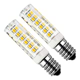 Bomnilla LED E14 Kakanuo 5Watt Equivalente 50W Blanco Cálido 3000K 430LM Campana extractora Non-Regulable AC220-240V 2 Piezas