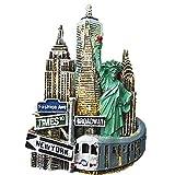 Imán 3D para nevera de Nueva York, Estados Unidos, recuerdo para decoración del hogar y la cocina, imán para nevera de Nueva York, regalo de recuerdo de viaje