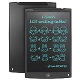 NEWYES 12' Tableta de Escritura LCD, Tableta gráfica, Ideal para hogar, Escuela u Oficina. Pilas Incluidas y 2 Imanes para la Nevera (Negro)