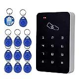 OBO HANDS RFID lector de tarjetas de control de acceso independiente con Digital teclado + 10 TK4100 teclas para hogar/apartamento/sistema de seguro de fábrica