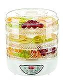 ECG SO 570 Secador de frutas, plástico, Color blanco transparente