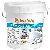 TECNOSAL DESHIELO (5 Kg) sal especial para derretir hielo y nieve en invierno, descongelación ideal para caminos, entradas, aparcamientos o carreteras, doble uso, Sal Lavavajillas, en cubo