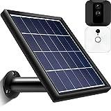 Panel Solar Fuente de Alimentación Compatible con Cámara de Seguridad Blink XT Interior y Exterior, Impermeable, Montaje Ajustable, Continuo Fuente de Alimentación (Cable de 12 pies/ 3,6 m) (Negro)