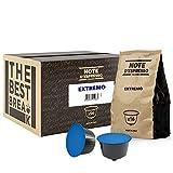 Note D'Espresso - Cápsulas de café 'Extremo' Exclusivamente Compatibles con cafeteras de cápsulas Nescafé* y Dolce Gusto* 7g (caja de 96 unidades)
