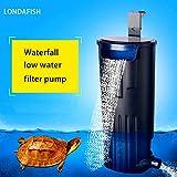 LONDAFISH Filtro Sumergible Mudo del Agua del Filtro de la Tortuga para la filtración del Tanque/del Acuario 600L / H de la Tortuga