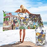 XCNGG Toallas de baño Toallas de baño Anime Castle in The Sky Quick Dry Bath Towel Portable Lightweight Travel Sports Towel Fast Quick Dry¡¤Super Absorbent¡¤Ultra Compact&iex