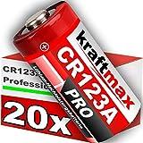 20Pack CR123/CR123A iones de alto rendimiento batería para aplicaciones profesionales–Última Generación