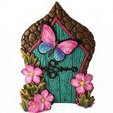 GlitZGlam Puerta de Hadas con Mariposa en Miniatura para Hadas de jardín y gnomos en Miniatura. Un Accesorio para gnomos de césped y Hadas de jardín