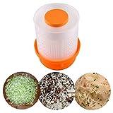 hinffinity Deshidratador de llenado de verduras, secador de lechuga manual, herramientas de exprimir relleno, polipropileno de grado alimenticio, seguro y saludable, fácil de usar